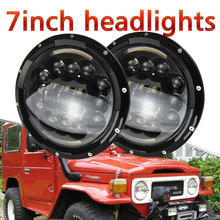 low price 7 Inch 6D LED Headlights Angle Eyes Turn Signal For lada
