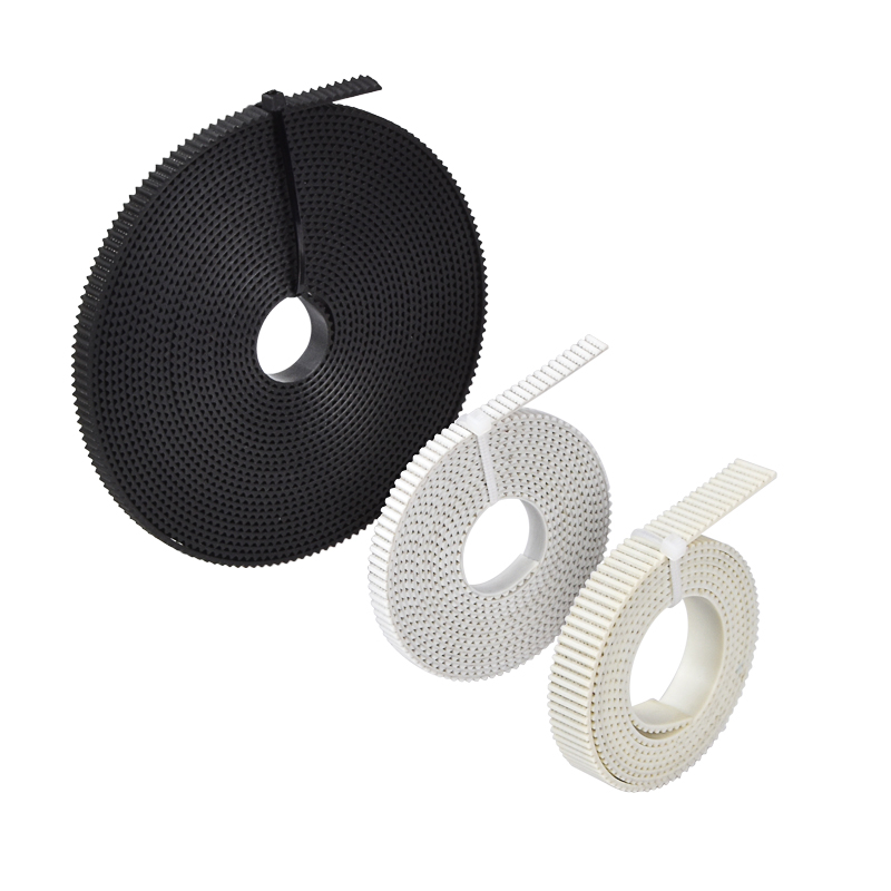 2/5M PU With Steel Core GT2 Belt Width 6/10mm Timing Belt White Black PU Open Ended Belt Pitch 2mm Pulley 3D Printer Parts
