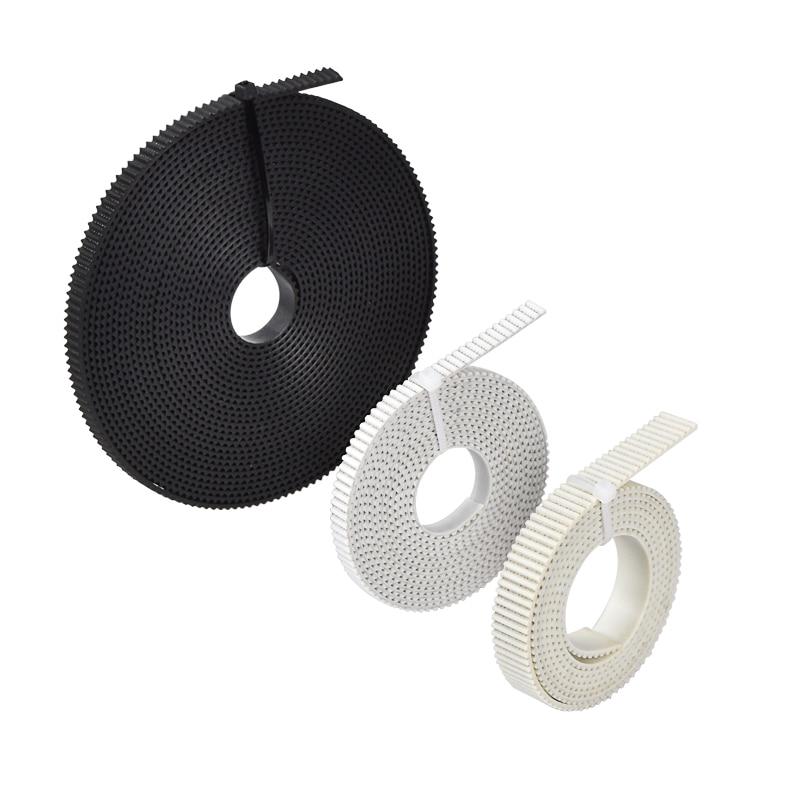 купить 2/5M PU with Steel Core GT2 Belt Width 6 10mm Timing belt White Black PU open ended belt Pitch 2mm Pulley недорого