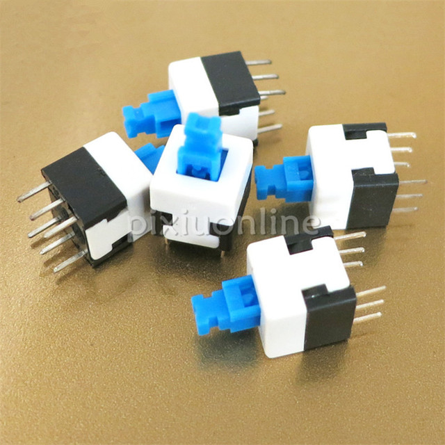 5pcs/lot J273 Micro Self-locking Push Button Switch DIY Circuit Toy Making Parts PCB Used Free Shipping Russia