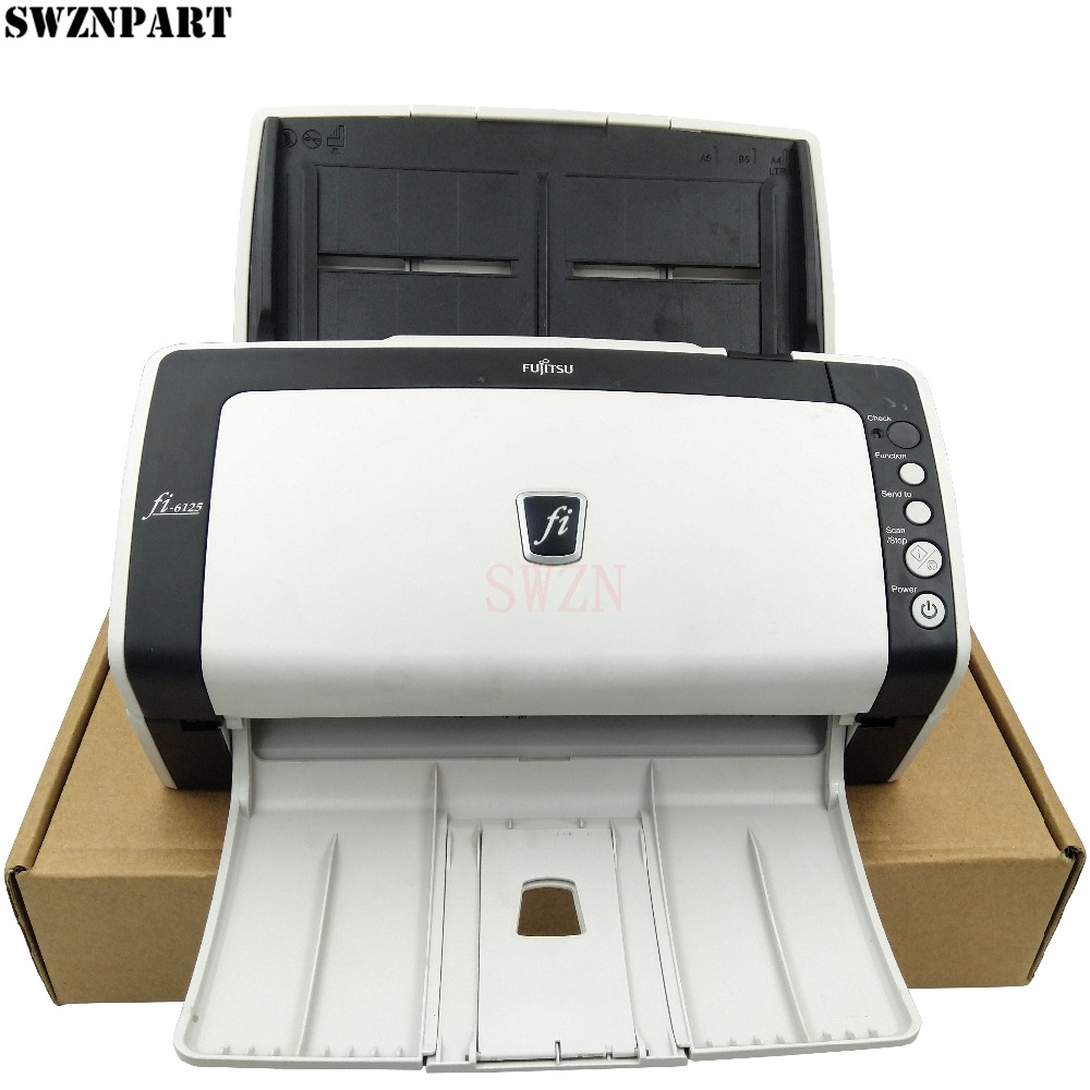 Document Scanner Fujitsu Fi-6125 6125 FI6125 Fi 6125dj USB Color 2-sided Duplex Scanner Complete