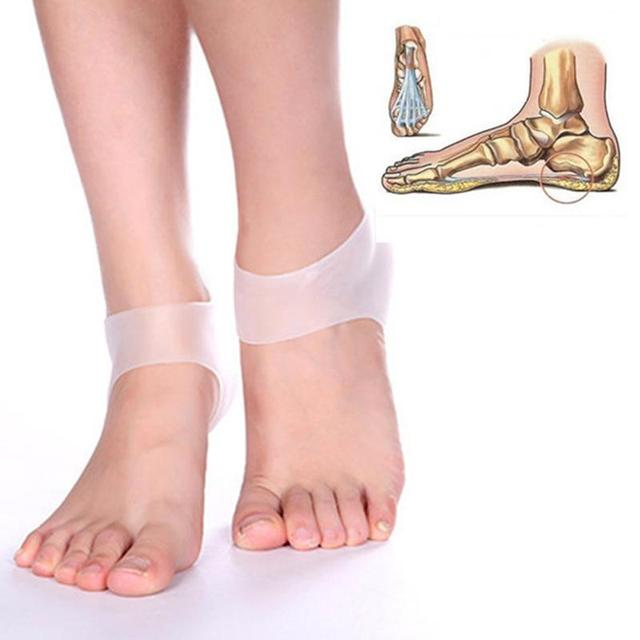 1Pair Foot Care Products Medical Cracked Silicone Care Heel Cover Cushion Anti-slip Maintenance Foot Heel Protection Feet Care