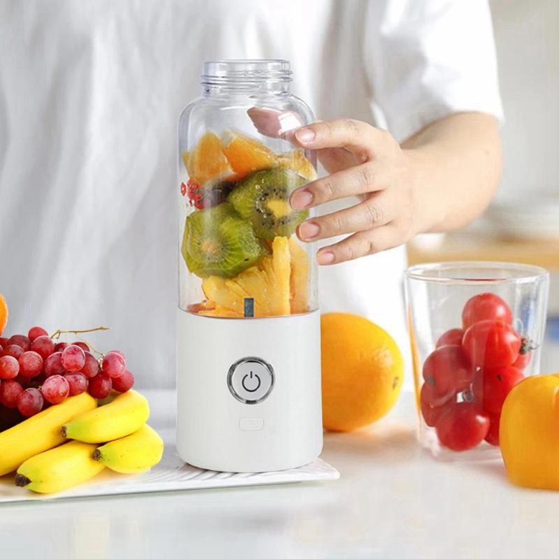 Usb Charging Blender Mixer Portable Juicer Machine Juice Fruit Maker Machine Household 500Ml Pink in Juicers from Home Appliances