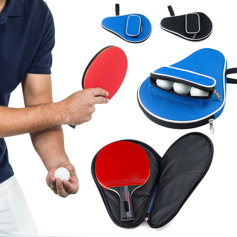 Durable Table Tennis Racket Case Ping Pong Ball Bag Multipurpose Oxford 30*20.5cm Paddle Bat Racquet Sport