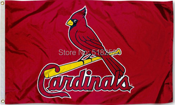 MLB St. Louis Cardinals logo Flag 3x5 FT 150X90CM Banner 100D Polyester flag 1037, free shipping