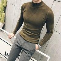 MRMT 2019 Brand Autumn New Knitting Men's Sweater Pullover for Male Half High Collar Sweater