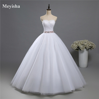 9019 2015 2016 New Style Fashion White Ivory Wedding Dresses For Brides Plus Size Maxi Formal