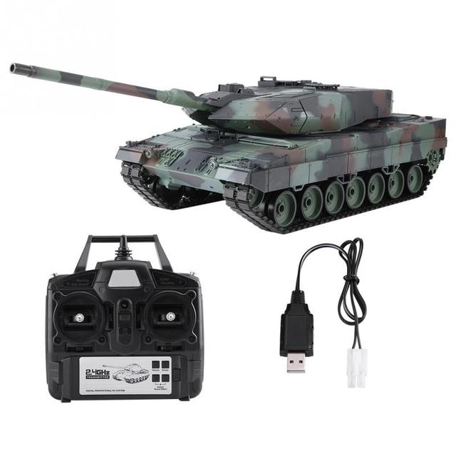 Heng Long 2,4 GHz RC Leopard Tank 1/16 Fernbedienung Deutsch Leopard 2 A6 Schlacht Tank Welt Simulation Sound Tank modell Spielzeug