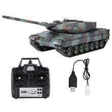 Heng Long 2.4 Ghz Rc Leopard Tank 1/16 Afstandsbediening Duitse Leopard 2 A6 Battle Tank Wereld Simulatie Geluid Tank model Speelgoed