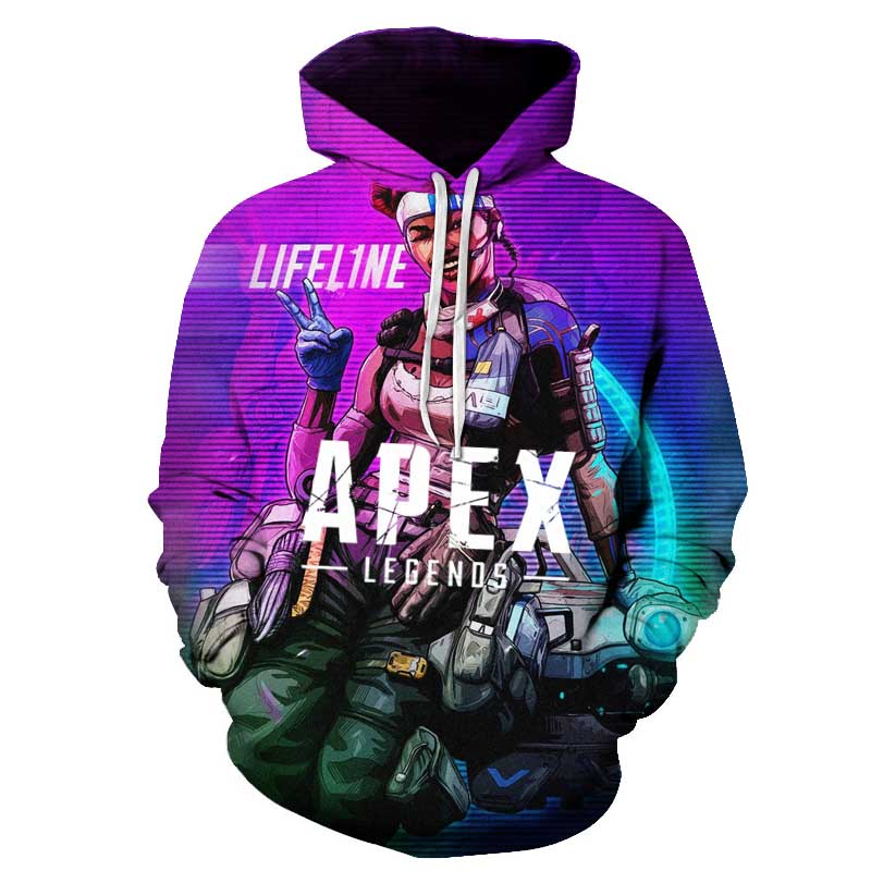 Apex Legends 3D Hoodies Men Streetwear 2019 New Sweatshirt 3D Hoodies Men's Women Autumn Long Sleeve Clothing