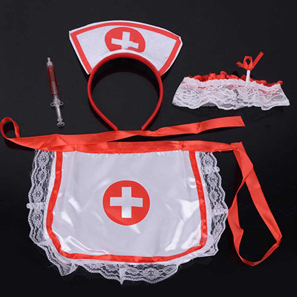 Anak-anak Berpura-pura Bermain Dokter Set Perawat Kostum Injeksi Kit Medis Peran Bermain Klasik Mainan Simulasi Dokter Mainan untuk Anak-anak J75