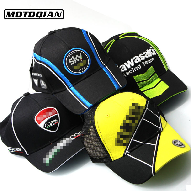 Moto Motorcycle Racing Cap F1 Moto GP Trucker Hat Baseball Cap Men Women Embroidery Caps Logo For Ducati Yamaha kawasaki Hat green sandalwood combed wooden head neck mammary gland meridian lymphatic massage comb wide teeth comb
