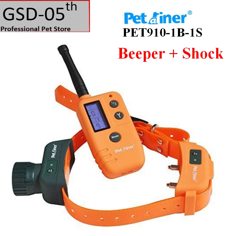 Pet Dog Hunter Beeper Shock Collar 500M Range Remote With Big LCD Display Dog Shock Beeper