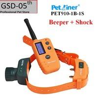 Pet Dog Hunter Beeper Shock Collar 500M Range Remote With Big LCD Display Dog Shock Beeper Training Collar Location 910 1B 1S