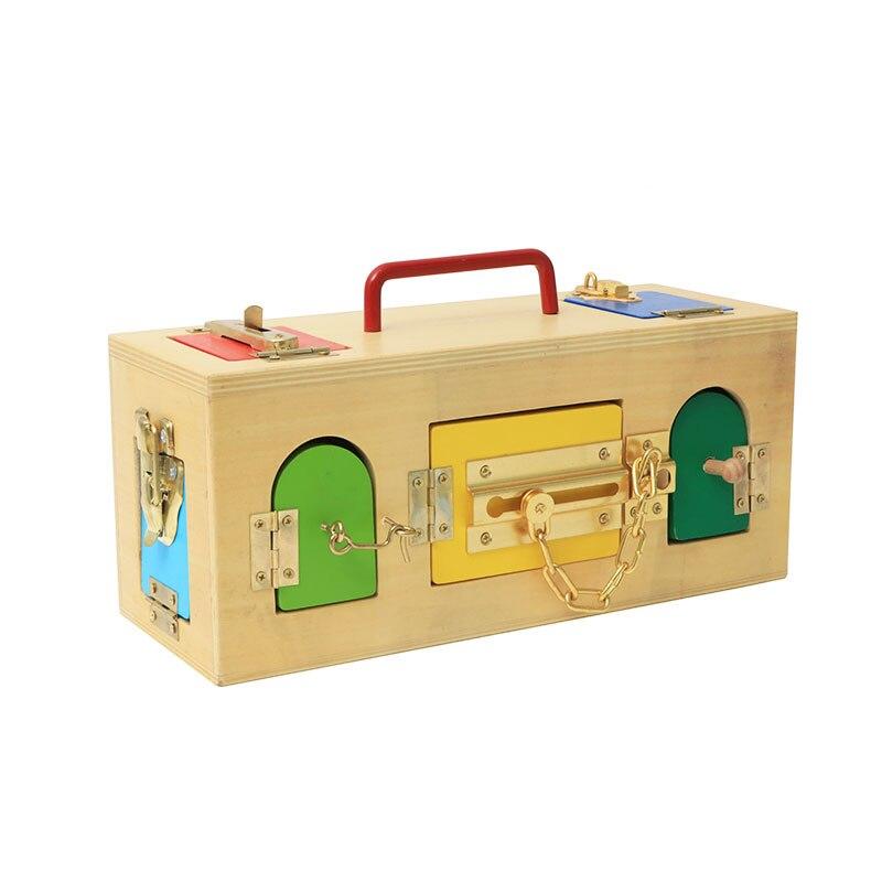 Montessori niños juguete sensorial Montessori de madera caja educativos Juguetes de aprendizaje Juguetes Brinquedos ME2164H - 2