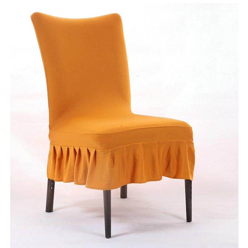 Fodere Per Sedie Universali.Colore Solido Lungo Universale Stretch Fodere Per Sedie Per