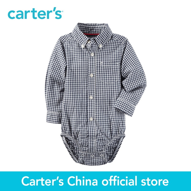 Carter s 1pcs baby children kids Gingham Button Front Bodysuit 225G603 sold by Carter s China