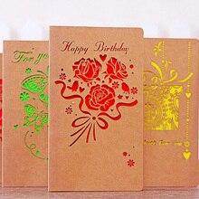 Винтаж крафт-бумаги конверт с Пригласительный билет для свадьбы/Свадьба День рождения открытка событий и вечеринок 9CX456