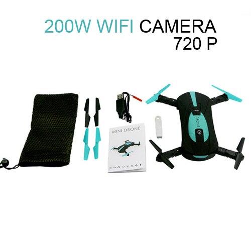 JY018 ELFIE WiFi FPV Quadcopter Mini Pieghevole Selfie Drone RC Drone con 0.3MP/2MP Macchina Fotografica HD FPV VS H37 720 p RC Elicotteri