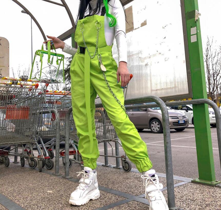 Street fashion women's summer personality zipper bag buckle strap jumpsuit