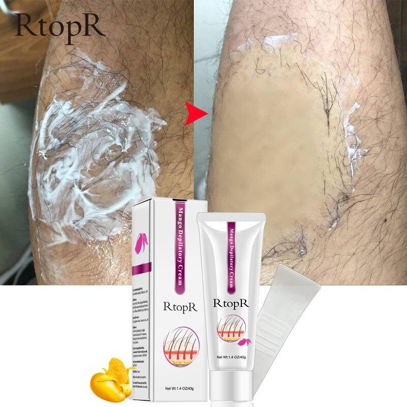 Mango crema depilatoria cuerpo dolor eficaz pelo eliminación Crema para los hombres y las mujeres de blanqueamiento de la mano de la pierna el pelo de la axila producto de la pérdida de