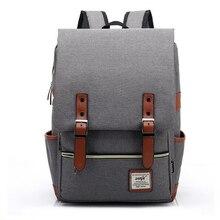 Mode Canvas Täglich Rucksäcke für Laptop Große Kapazität Laptop-tasche Casual Schüler Schultasche packs Reise Rucksäcke Grau