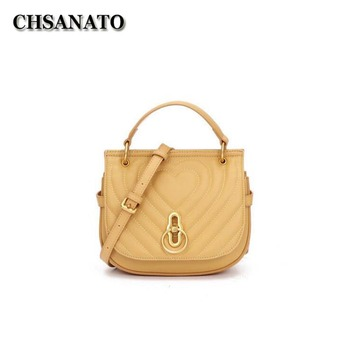 CHSANATO New Women Messenger Bags Luxury Handbags Famous Brand Designer Fashion Shoulder Bag Females Cow Leather Handbags