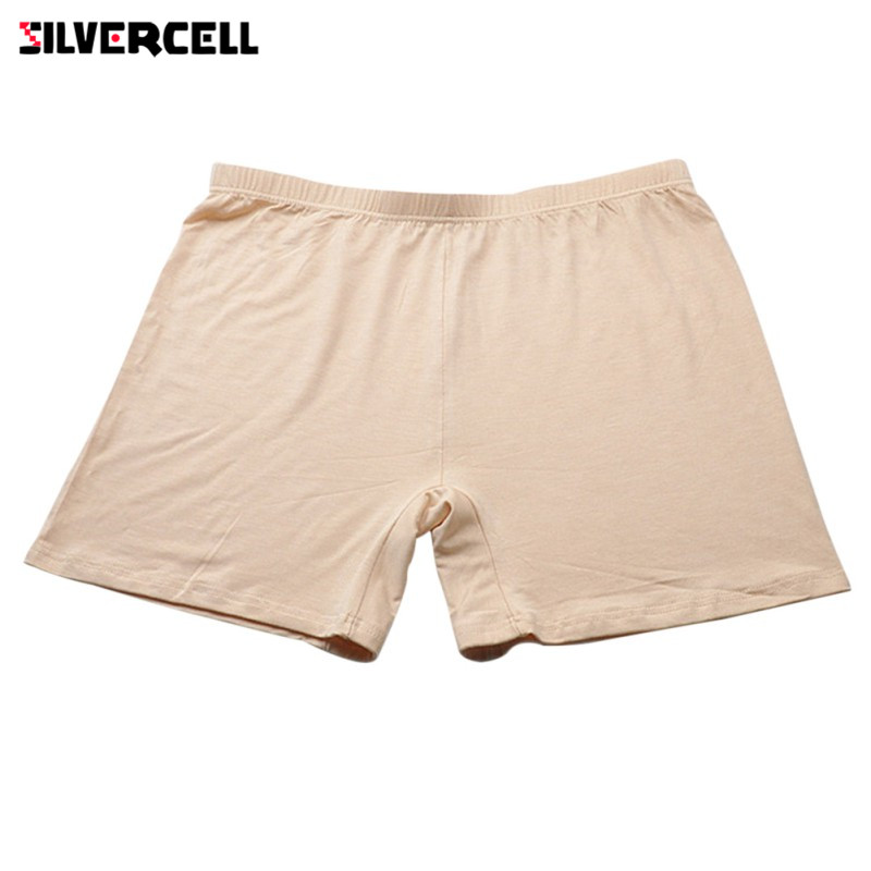SILVERCELL Women Ladies Soft Thin Shorts Under Skirts Comfortable Lightweight Bamboo Underpants for Summer S-XL