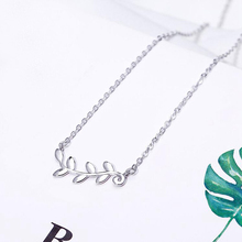 Ruifan Hot Sale Elegant Leaf Leaves Shape Pendant 925 Sterling Silver Choker Necklace for Women Girls Silver 925 Jewelry YNC050 цена в Москве и Питере