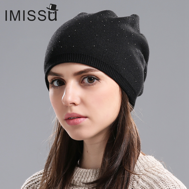 Women's Winter Wool Beanie Female Fashion Skullies Casual Outdoor 2