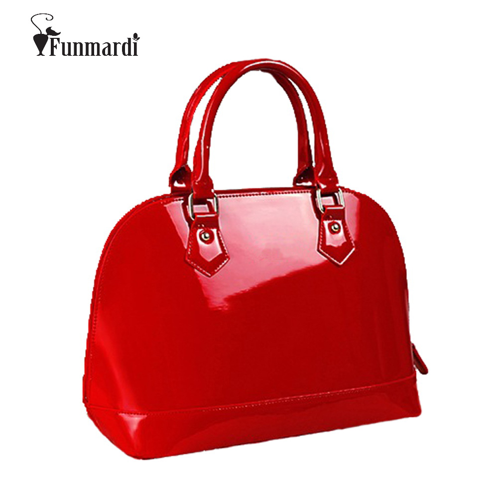 New arrival Fashion brand design star style candy good quality patent leather women bag/PU leather handbag WLHB970