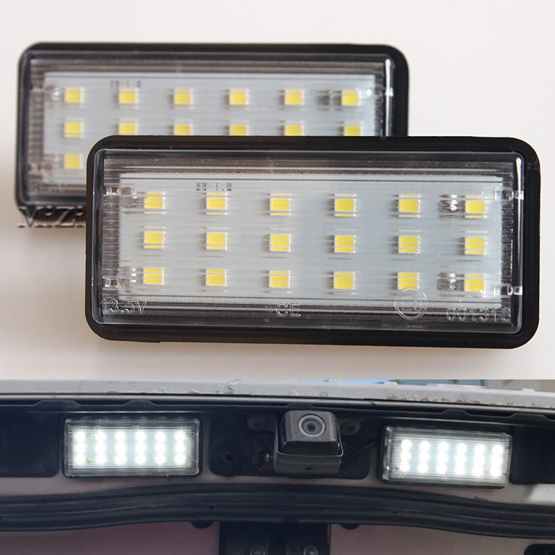 Número do carro branco livre de erros LED número da placa da luz Kit para Lexus LX470 GX470 Toyota Land Cruiser 120 Prado 120 Land Cruiser 200