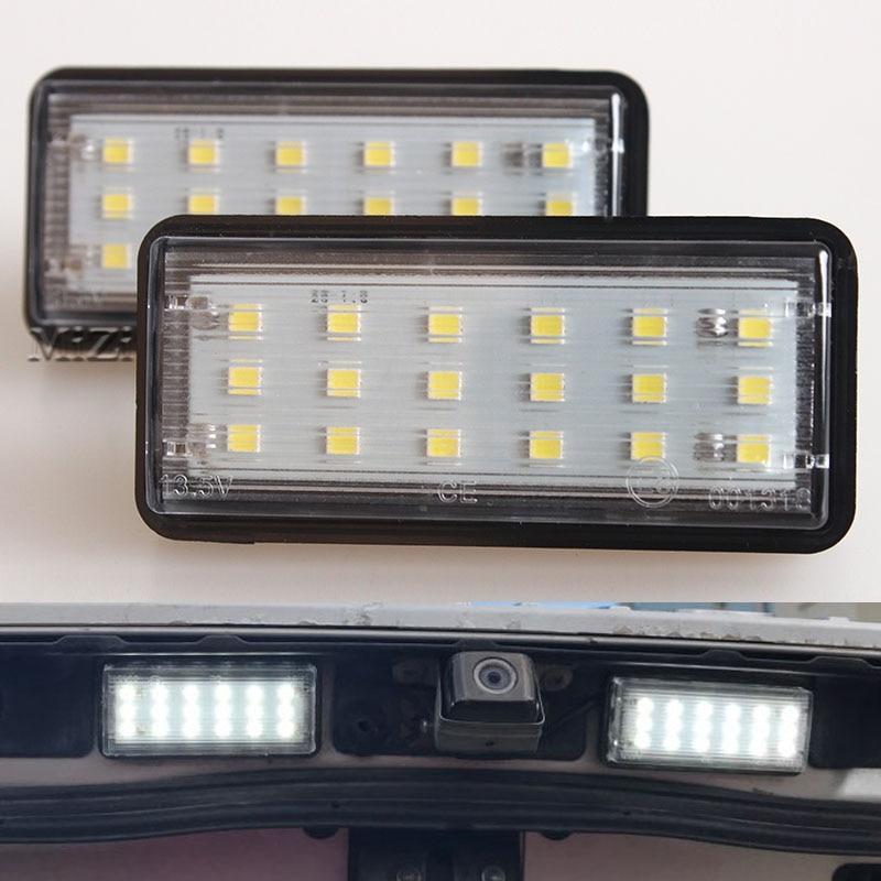 ⊹Error blanco libre del coche LED Marcos de matrícula Kit de luz ...