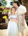 Новый муссон 2014 лето ребенок рукавов платье цветок сарафан платье