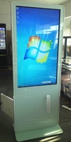 LED 47 55 inch inquiry lcd tft HDMI graphic presentation 1080P exhibition signage Advertising Digital totem with printer