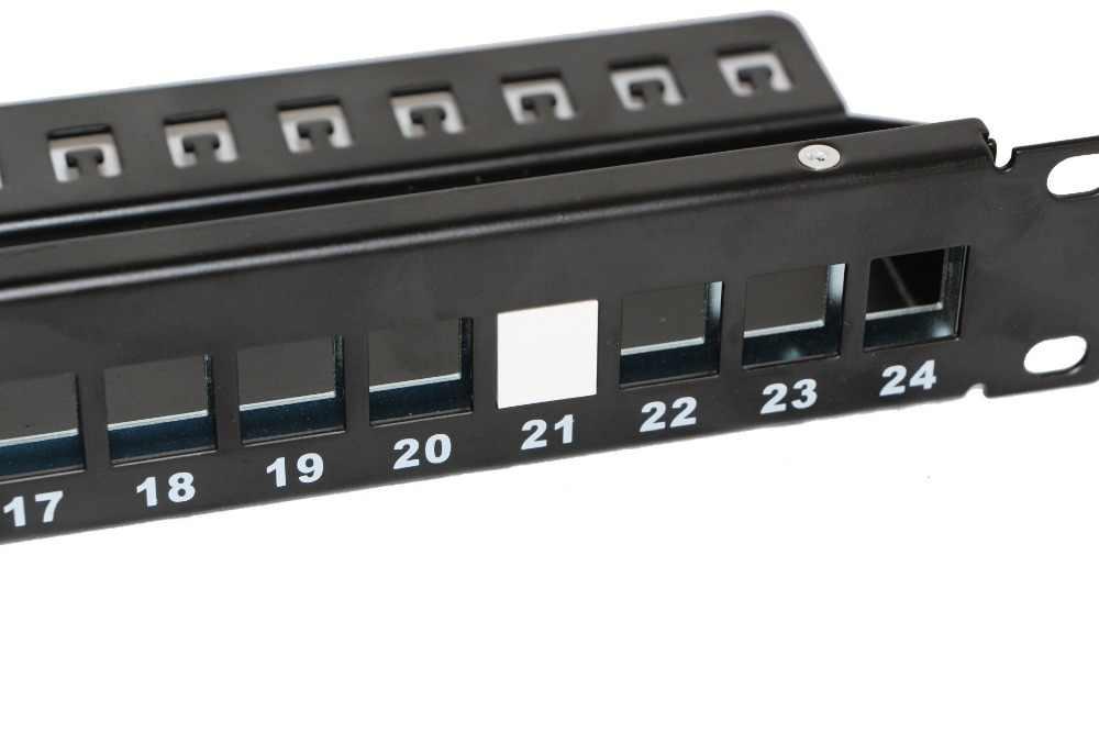 100 adet boş Patch Panel için 8 bağlantı noktası, 12 port, 24 port 48 port boş Patch Panel