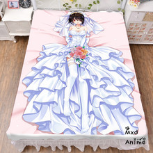 Japanese Anime Date A Live Bed sheet Throw Blanket Bedding Coverlet Cosplay Gifts Flat Sheet cd004