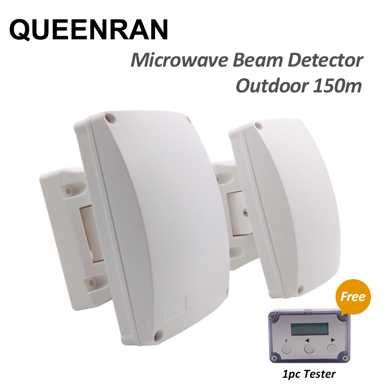 10.525GHz Microwave Beam Detector Perimeter Curtain Beam Sensor for Wired Outdoor Alarm Protection System 1pair outdoor 150 meters wired microwave perimeter barrier beam with lcd tester free shipping