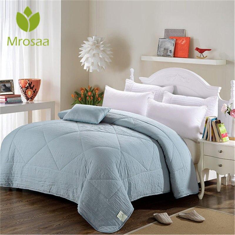 New Air Conditioning Cool Quilt Washing Cotton Duvet Quilt Silk Cotton Quilted Blanket Winter&Autumn Comforter Queen Size