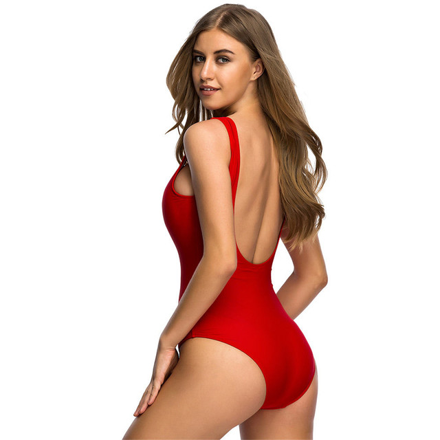 S - 6XL Large Size Swimwear Plus Size One Piece Swimsuit Female Women Bather 2018 Backless Bathing Suit Swim Lady Monikini Y128L 5