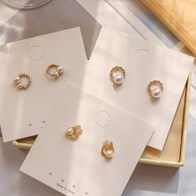 Ruifan Trendy Korean S925 Pin Small Stud Earrings Crystal Hot Sale Fashion Pearl for Women Girls Jewelry YEA293