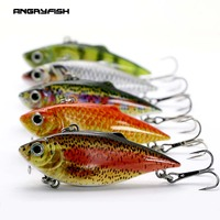 Angryfish熱い販売5ピース釣りルアーセット8グラム60ミリメートル人工餌リアルなフック付き5色HF-001