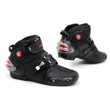 Original Motorcycle Boots Motocross Racing Street Riding Microfiber Short Botas Moto Sports Protective Shoes