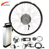 48 V 250 Wát 350 Wát 500 Wát Động Cơ Phía Trước Bánh Xe với Pin Lithium Ion cho 700c Xe Đạp Wheel Ebike E-bike Tập Chuyển Đổi Xe Đạp Điện Kit