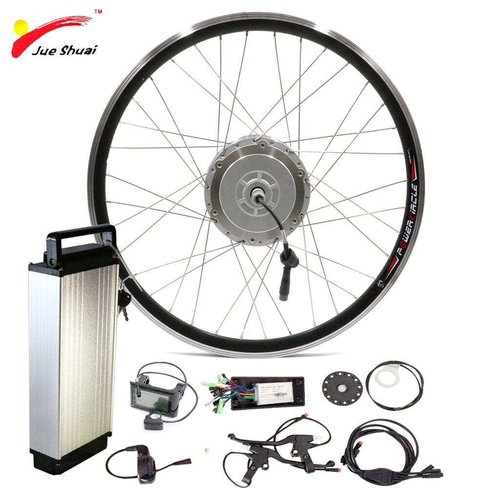 Roue de moteur avant 48V 250W 350W 500W avec batterie Lithium-Ion pour roue de vélo 700c Kit de Conversion de vélo électrique Ebike e-bike