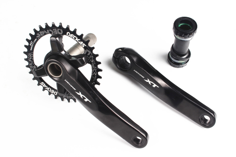 SHIMANO Deore XT M8000 Crankset 1x11 Speed Chain Wheel crank with Deckas 96BCD Narrow Wide chainring