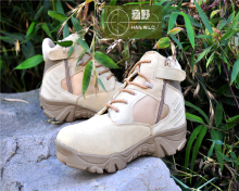 Good Sale Men Breathable Camping Fishing Sneakers Tactical Combat Weightlifting Shoes Military Training Shoes Desert Tan Boots