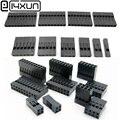 EClyxun 2,54 мм разъем Dupont 2,54 мм Однорядный/двухрядный пластиковый корпус 1P 2P 3P 4P 5P 6P 7P 8P 9P 10P 12P 14P 16P 18P 20P