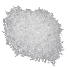 1000 шт микро центрифуга пробирки флакон прозрачный пластиковый контейнер для пробирок защелкивающаяся Крышка для лабораторных образцов 0,2 мл