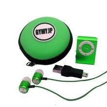 2017 novo Esporte MP3 Player com Tela LCD de Metal Mini Clipe MP3 Player de Música Cabo USB Fones de ouvido